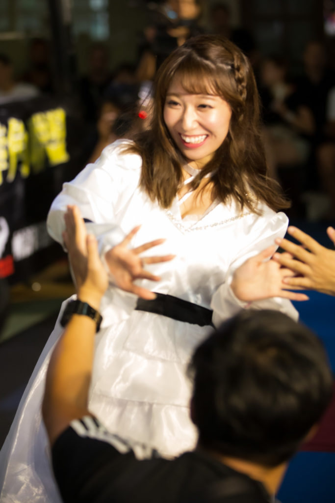 Riho was making her way to the ring on NTW 02.
