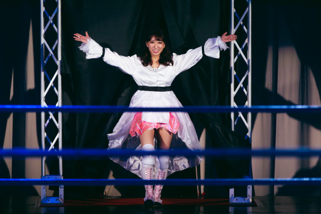 Riho made her way to the first match on STARDOM