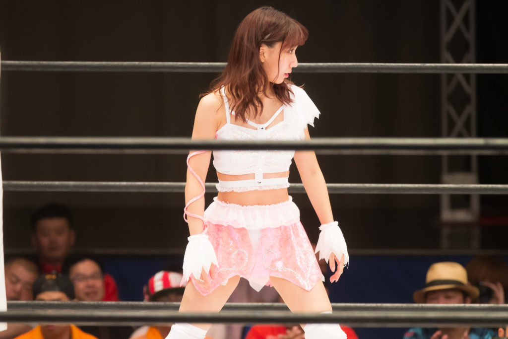 Riho on STARDOM High Speed Championship match 02 (8/10/2019)