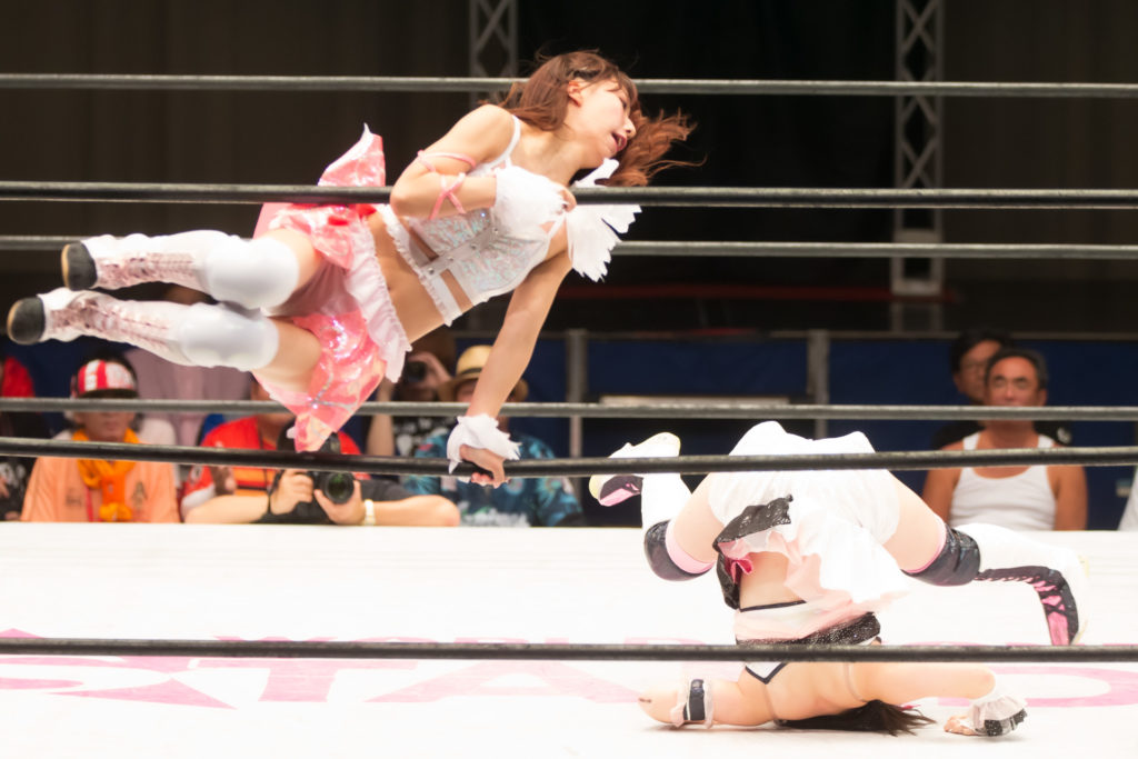 Riho on STARDOM High Speed Championship match 04 (8/10/2019)