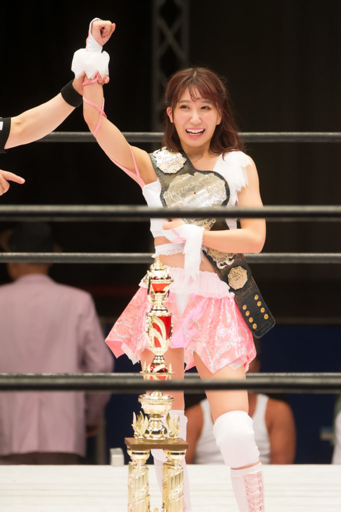 Riho crowned High Speed Championship / Riho on STARDOM High Speed Championship match 14 (8/10/2019)