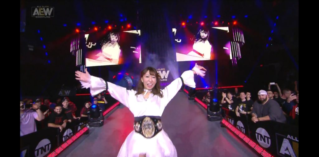 Riho on AEW Dynamite Boston 2019/10/09 03