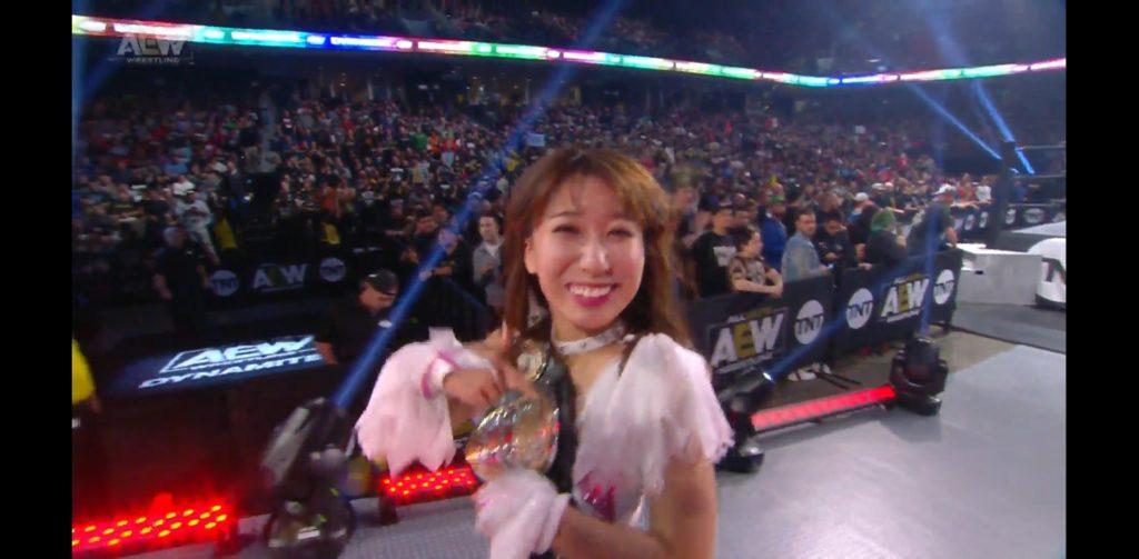 Riho on AEW Dynamite Philadelphia 2019/10/16 14
