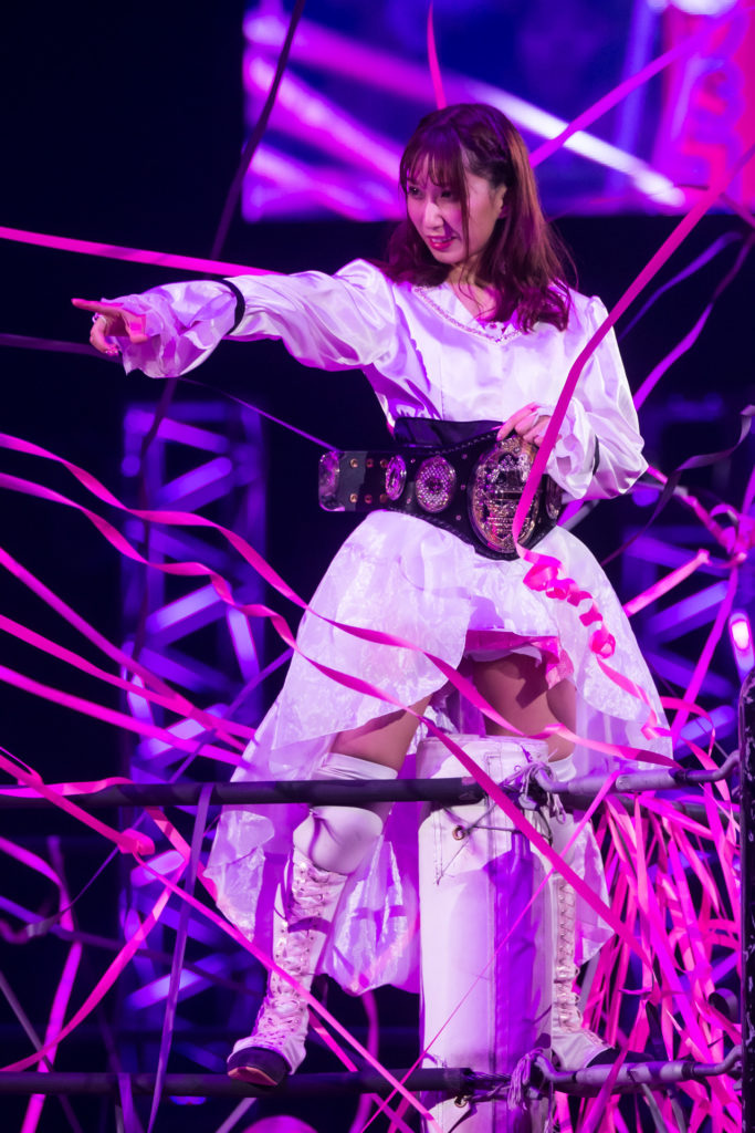 Riho on DDT Ultimate Party 2019 01