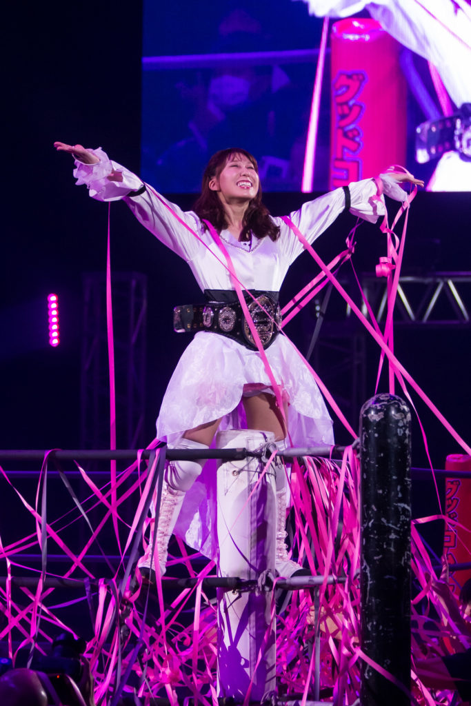 Riho on DDT Ultimate Party 2019 02
