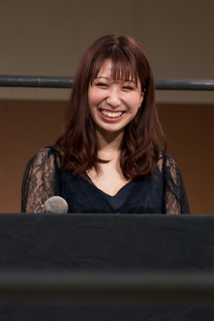 Riho on the open conference for DDT Ultimate Party 2019 02