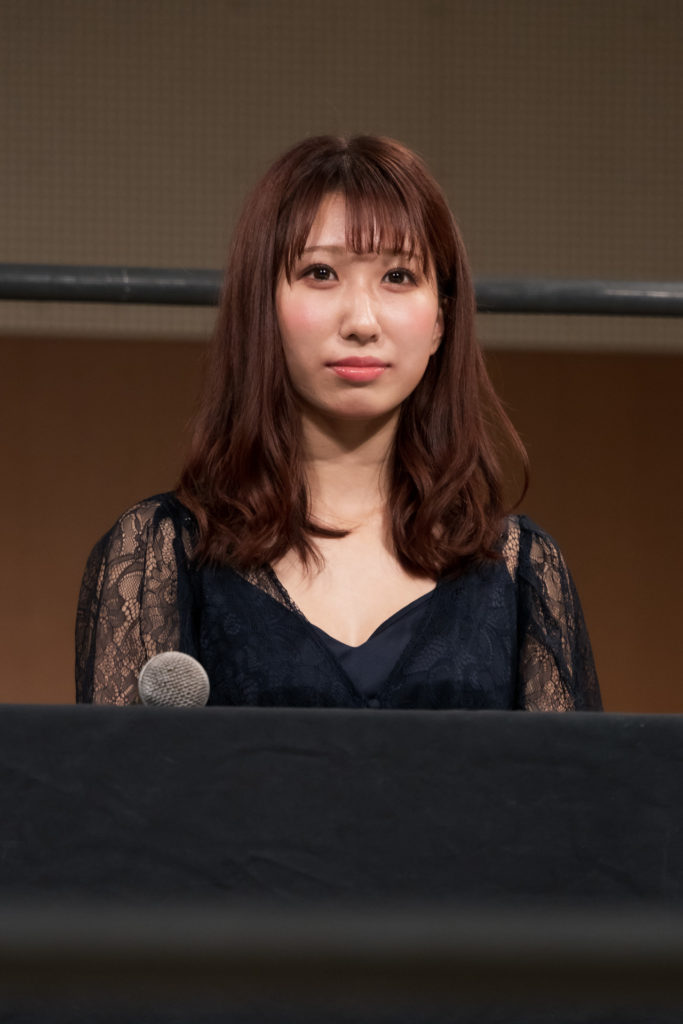 Riho on the open conference for DDT Ultimate Party 2019 03