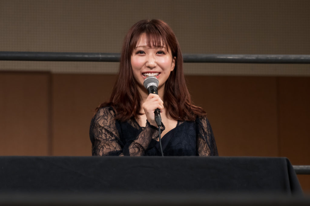 Riho on the open conference for DDT Ultimate Party 2019 05