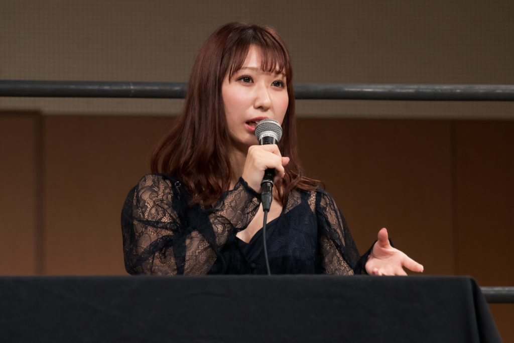 Riho on the open conference for DDT Ultimate Party 2019 07