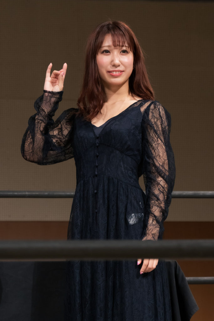 Riho on the open conference for DDT Ultimate Party 2019 15