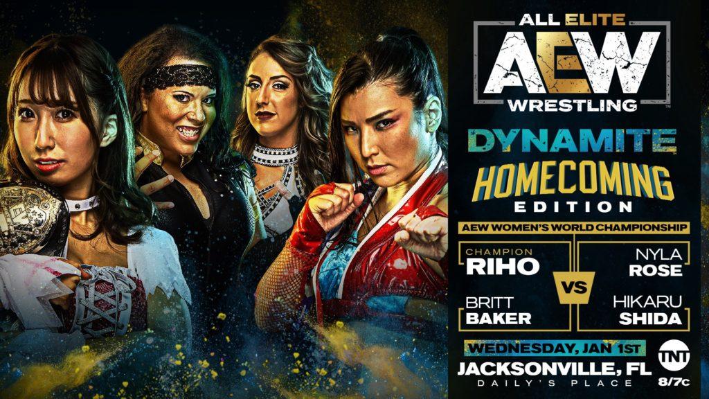 AEW Women's wolrd championship 4way match on Jacksonville