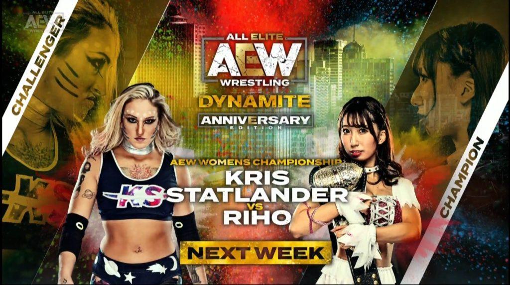 Riho vs Kris Statlander AEW Dynamite 20200108