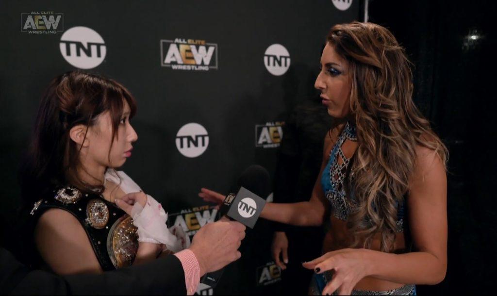 Riho on AEW Dynamite Jacksonville 20200101 16