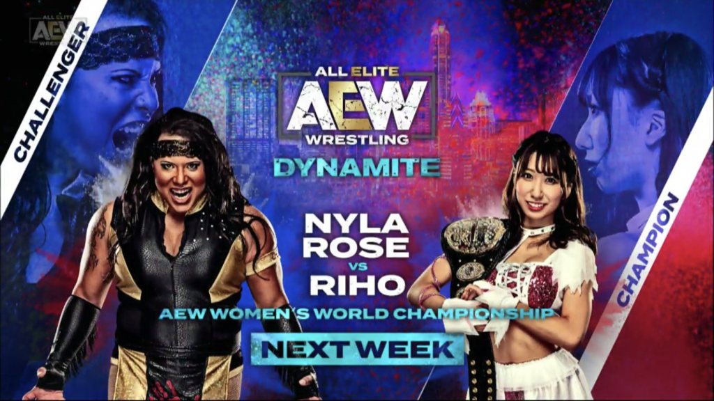 Riho vs Nyla Rose AEW Austin